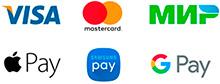 Принимаем карты Visa и MasterCard