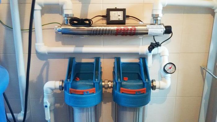 ультрафиолетовая обработка воды с лампой для обеззараживания в Москве