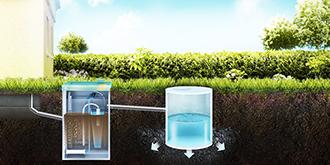 септик ТОПАС монтаж с отводом очищенной воды в дренажный колодец