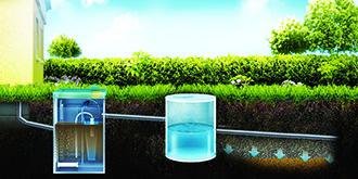 септик ТОПАС монтаж с отводом очищенной воды на поле фильтрации или в дренаж