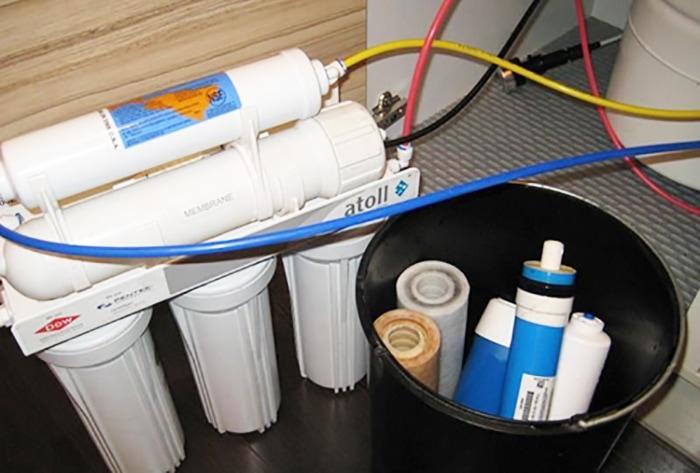 замена фильтров для воды Atoll