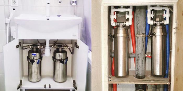 Фильтр на входную холодную и горячую воду в квартиру